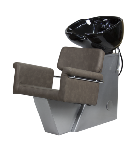 Lavacabezas Tor con asiento Nico, Marrón Grisáceo 80 PVC